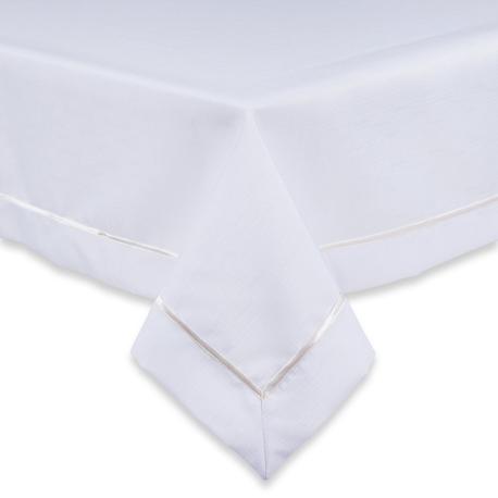Biały obrus z białą lamówką (1)